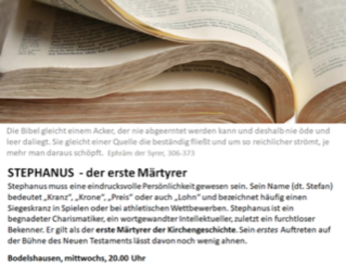 Bibel-Treff: Stephanus – der erste Märtyrer