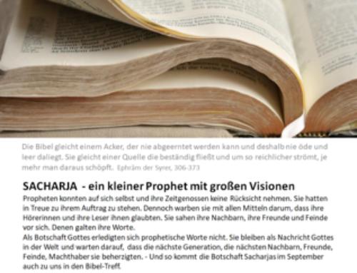 Bibel-Treff: Sacharja